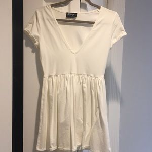 Nasty Gal White Skater Dress